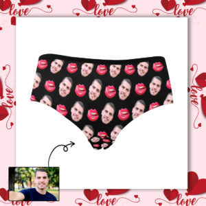 Custom Face Photo Lip Mouth Licking Women's Waist Briefs